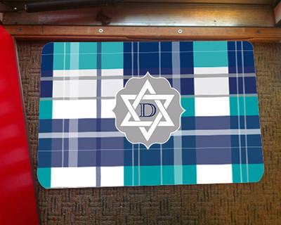 Doormat - Hanukkah Plaid