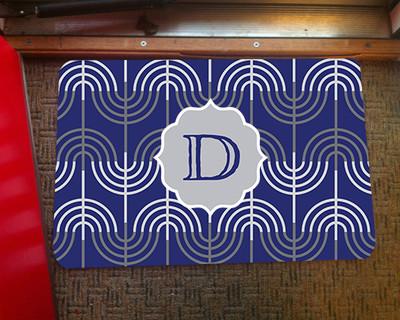 Doormat - Hanukkah Menorah Blue