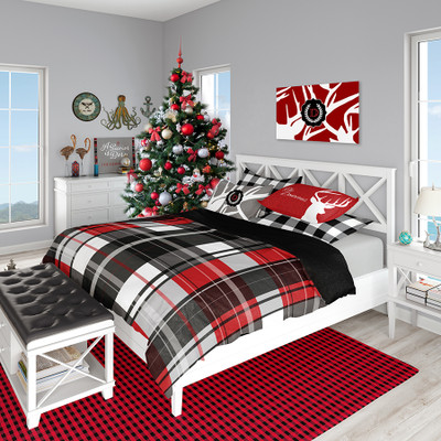 Holiday Bedding - Large  Red and Black Plaid
