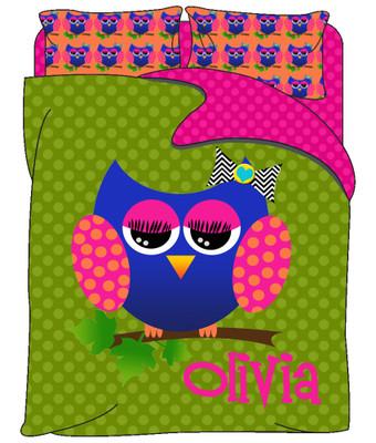 Custom Bedding - Allie the Owl