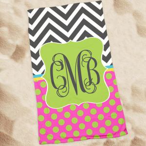 Beach Towel-Chevron Hype II