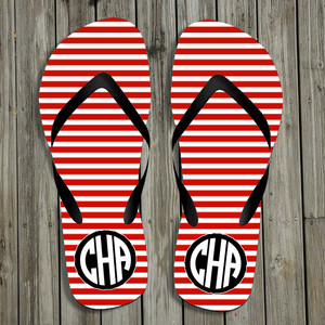 Flip Flops-Red Stripes