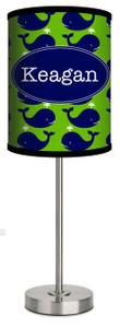 Custom Lamp- Blue Whales