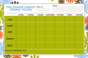 Weekly Jumbo Planner Pad-Flower Graphix
