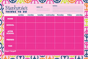 Jumbo Desk Planners - Peace