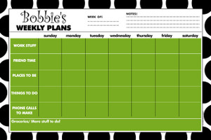 Jumbo Desk Planners - Black and White Dots