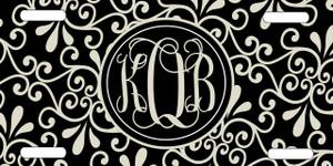 License Plate - Black and Khaki Swirl