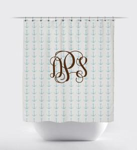 Shower Curtain- Beach Nautical Monogram