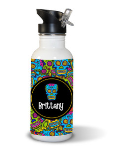 Waterbottle- Comic Sugar Skulls