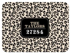 Cutting Board - Black and Khaki Leopard