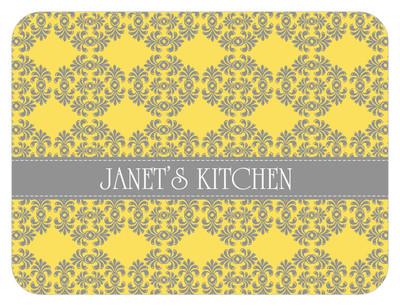 Cutting Board - Lemon Gray Frilly