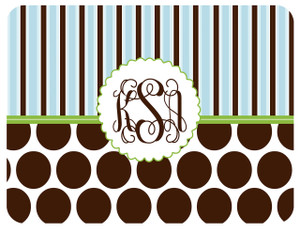 Cutting Board - Earth Pop Blue and Chocolate