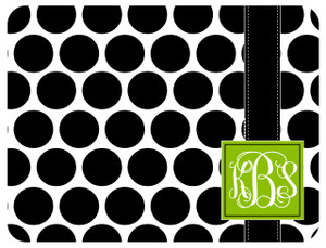 Copy of Cutting Board - BW Polka Dots Square Monogram