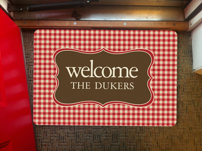 Doormat- Red Gingham