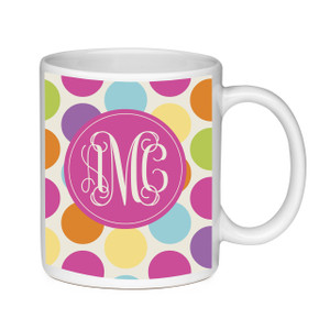 Coffee Mug-Polka Dots Brights