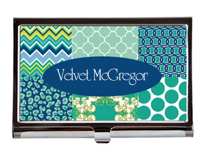Business Card Case - Jewels Collage
