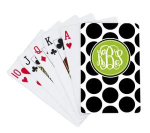 Playing Cards -BW Polka Dots