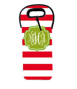 Wine Tote - Holiday Stripes