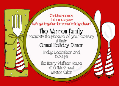 Invitation-Dinner and a Napkin