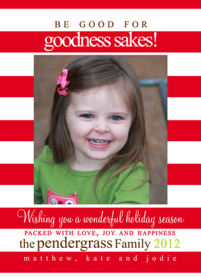 Holiday Photocard-Be Good
