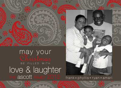 Holiday Photocard-Coco Paisley