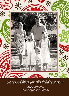 Holiday Photocard-Holiday Paisley