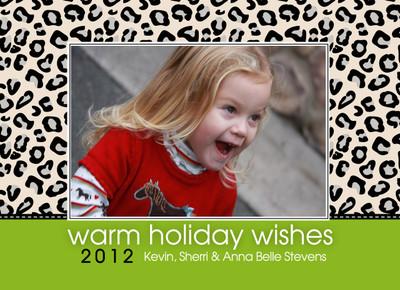 Holiday Photocard-Holiday Leopard