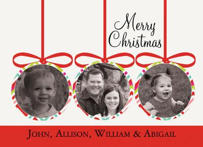 Holiday Photocard-Holiday Ornaments