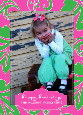 Holiday Photocard-Preppy Holiday