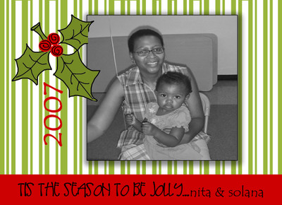 Holiday Photocard-Holly