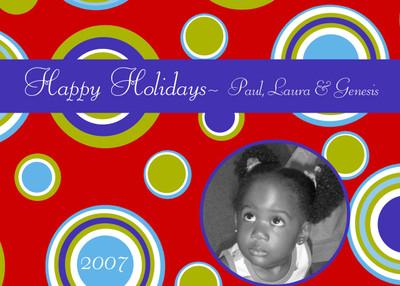 Holiday Photocard-Circle Circle Dot