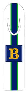 Metal Bookmark- White Rugby Stripe