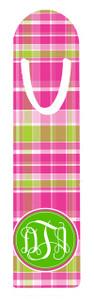 Metal Bookmark- Hot Pink Plaid