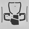 Mopar B Body 70 Charger MEGA Splash Shield Set -Manual