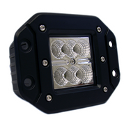 "ELEMENT - 3"" 18 Watt Square (Flush Mount) CREE LED Work Light - Flood Beam"