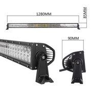 "288 Watt 50"" Double Row LED Light Bar  21,200 Lumens  - Combo Beam"