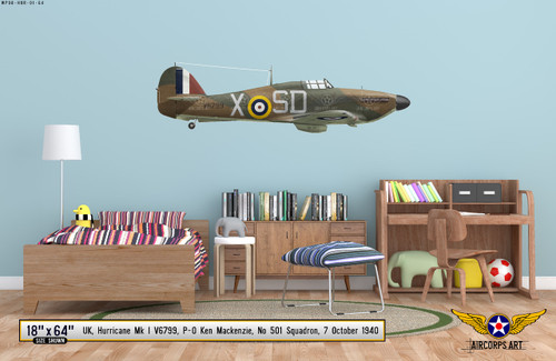 Hawker Hurricane Mk I Decorative Vinyl Decal
