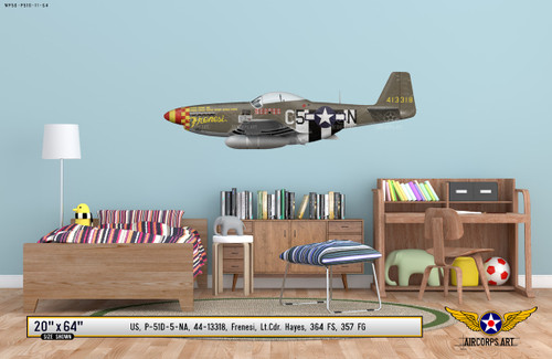"P-51D Mustang ""Frenesi"" Decorative Vinyl Decal"