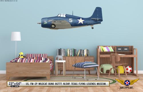 FM-2P Wildcat Decorative Vinyl Decal