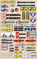 Decal kit N-Style Large Logo Sticker kit Off-Road Decal kit N-Style Large Sticker N30-187