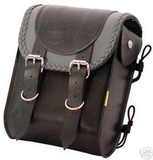Sissy Bar Bag Willie & Max Braided Black/GrayThunder