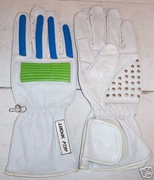 Motorcycle Gloves AGV RX1 White/Green/Blue (XX-Large)