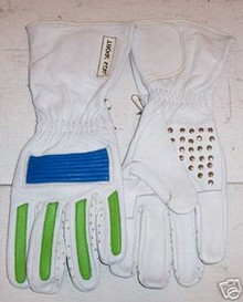 Motorcycle Gloves AGV RX1 White/Bl/Gr. Size XX-Large