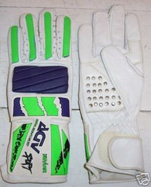 Motorcycle Gloves AGV RX 3 White/Blu/Grn. Size X-Small