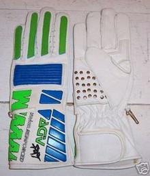 Motorcycle Gloves AGV RX 3 White/ Light Blue/Green