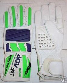 Motorcycle Gloves AGV RX 3 White/Blu/Grn.Size Medium