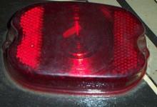Harley Tail light Lens 55-72 Red plastic aftermarket