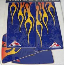 Ceet  Fender Decal Kit Yam Blaster Blue/Flames