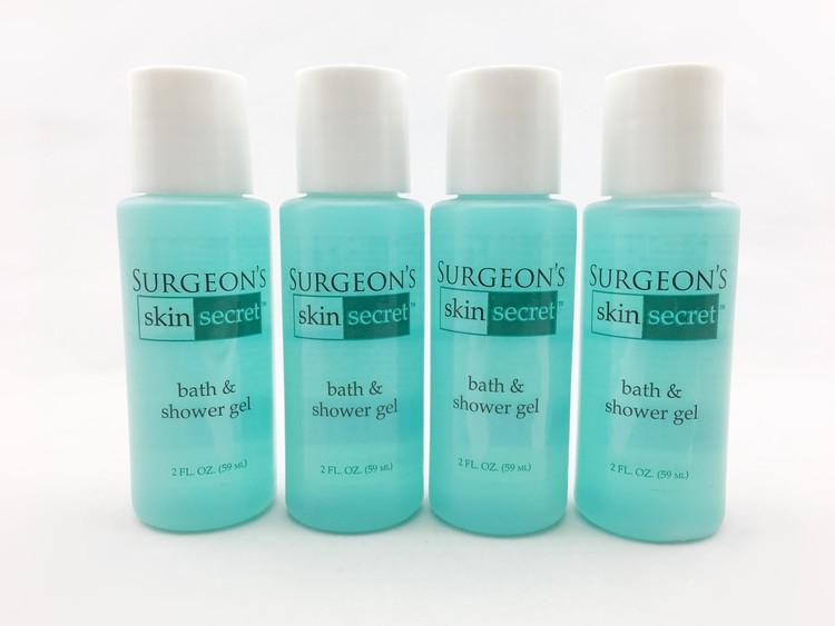 Surgeon's Skin Secret Bath & Shower Gel 4 Pack 2 oz Travel Size