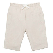 BOW DETAIL CORD TROUSER